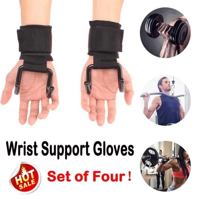 Power Weight Lifting Training Fitness Hook Grips Straps Wrist Support Gloves Equipement fitness PRODUITS DE FITNESS ET MUSCULATION