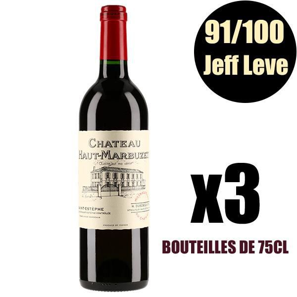 X3 Château Haut-Marbuzet 2016 75 cl AOC Saint-Estèphe Vin Rouge