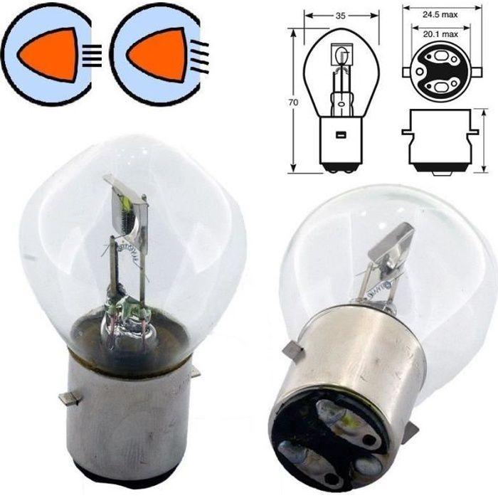 AMPOULE 12V 35/35W S2 BA20D HALOGENE VOITURE FEU AVANT PROJECTEUR UNIVERSEL LAMPE PHARE CODE MOTO ECLAIRAGE