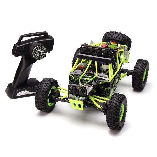WLtoys RC Voiture 12428 2.4G 1/12 4WD Crawler Avec LED