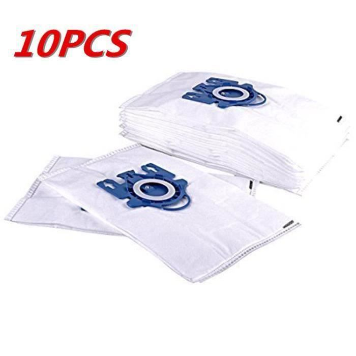Lot de 10 sacs d'aspirateur pour Miele GN (S400i - S456iS600 - S658S800 - S858S2000 - S2999S5000 - S5999S8000 - S8999 Series)