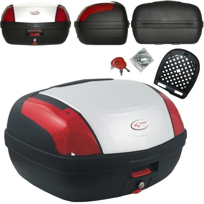 Top Case Moto Bagage Coffer Valise 46 L BLANC