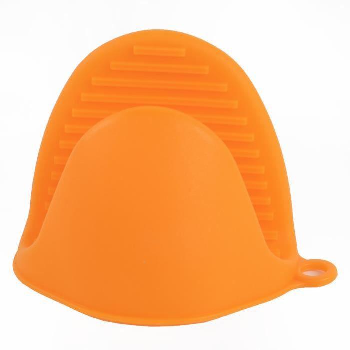Mitaines de cuisson résistant à la chaleur 2 pièces Mini four en Silicone porte Pot pinces de cuisson pour la - Type 2PCS Orange