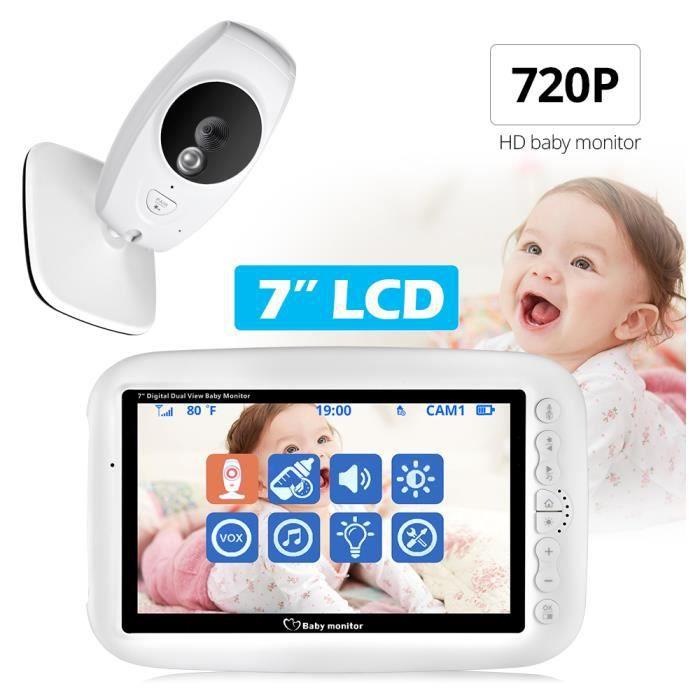 BABY PHONE - ECOUTE BEBE,Moniteur bébé sans fil 7 pouces 720P HD, caméra vidéo de sécurité pour bébé, surveillance - Type EU Plug
