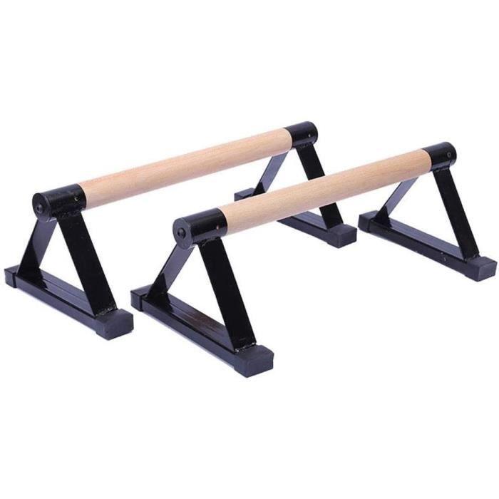DIP STATION 11 1 Paire de parallettes en Bois Barres en Bois pour la callistheacutenie la Gymnastique Le Yoga Les Barres agrave 1718
