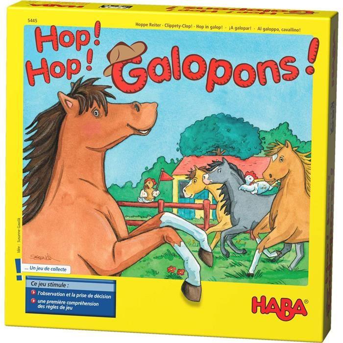 JEU DE SOCIETE HABA - Hop ! Hop ! Galopons ! - 5445 - Jeu de Chevaux - Jeu de soci&eacutet&eacute - 3 Ans et Plus565
