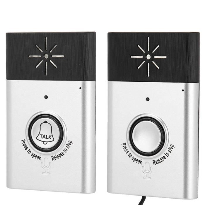 Sonnette sans fil Sonnette Dual Way Voice Intercom 1 Récepteur + 1 pile bouton WIFI Interphone System