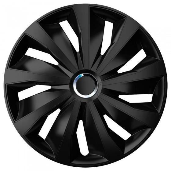 AutoStyle enjoliveurs Grip Pro 13 pouces ABS noir lot de 4