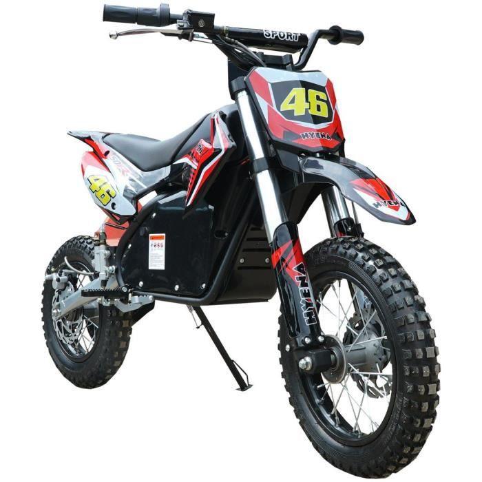 Moto cross electrique Rouge 1200W 48V 15Ah batterie lithium