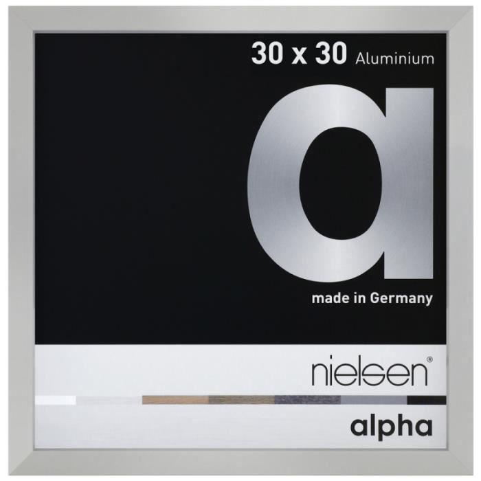 Cadre Nielsen Alpha 30x30 cm argent mat 30 x 30 cm Argenté