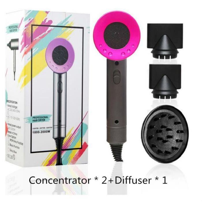 10 PCS Sèche-cheveux ionique négatif de salon d'air chaud et d'air froid 2000W