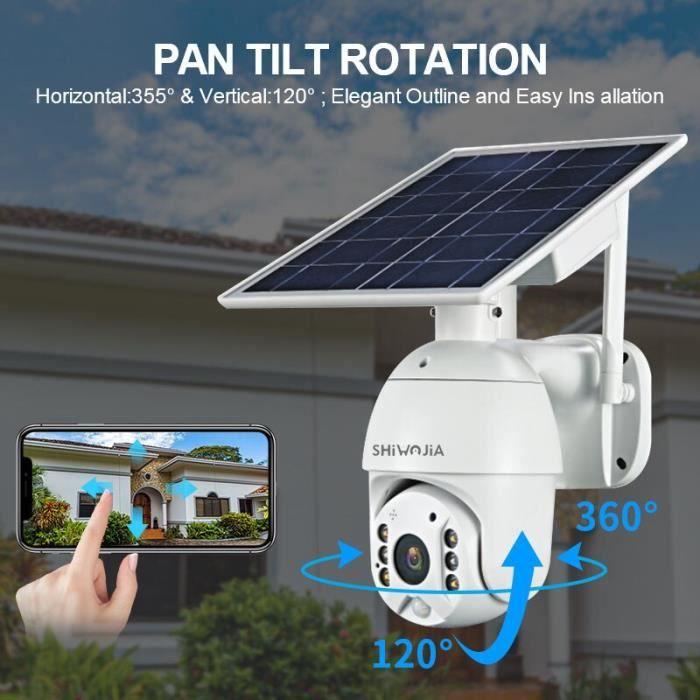 RUMOCOVO® Caméra solaire HD 2MP panneau de sécurité pour l'extérieur, maison intelligente, ferme 4G Camera