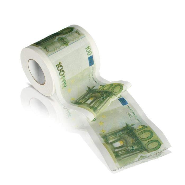 1 PCS Creative 100 euros Modèle Caractère de tissu 3 couches de papier toilette rouleaux d'impression papier