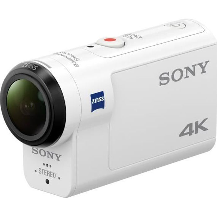 Sony Action Cam-FDR-X3000R Caméra de poche fixable 4K - 30 pi-s 8.57 MP Carl Zeiss Wi-Fi, NFC, Bluetooth