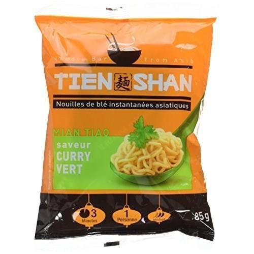 Tien Shan - Nouilles de blé instantanées asiatiques saveur curry - 85 g