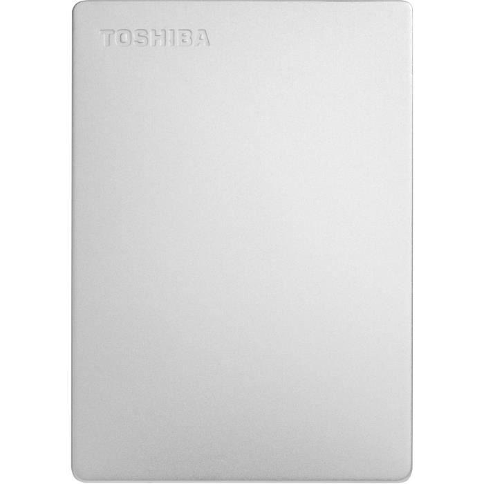 Toshiba Canvio Slim 1 To Argent - Disque dur externe 2-1-2 USB 3.0 ( Catégorie : Disque dur externe )