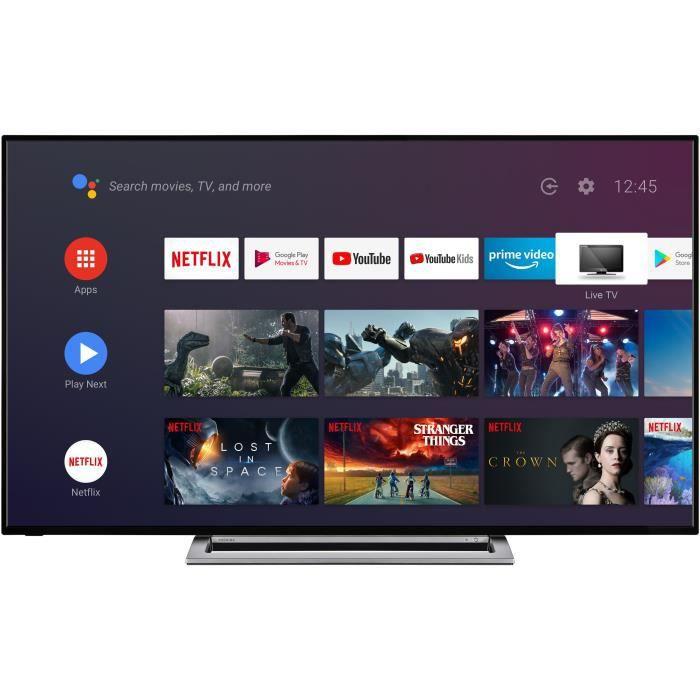 TOSHIBA 43UA3A63DG TV 4K UHD - 43- (108 cm) - 4K HDR - AndroidTV - Google Assistant - 4xHDMI - 2xUSB - Classe énergétique A+