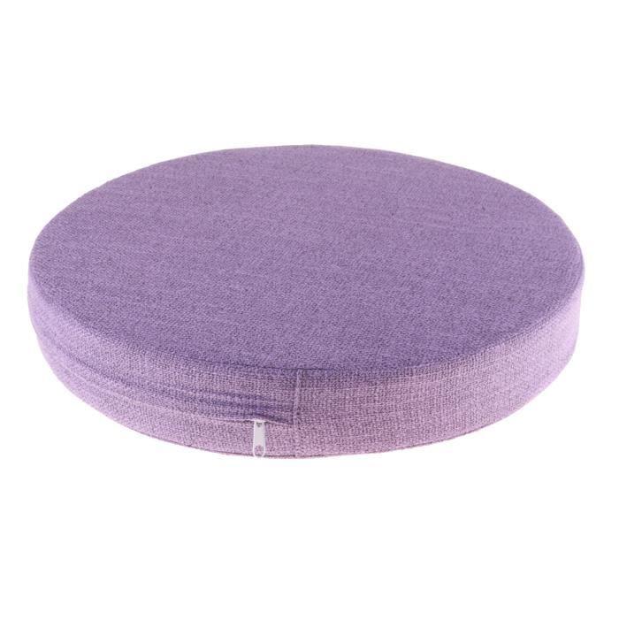 Tapis de Méditation Confortable - Coussin Zafu Yoga Zen pour Méditation Méditation Mat Pad Violet clair