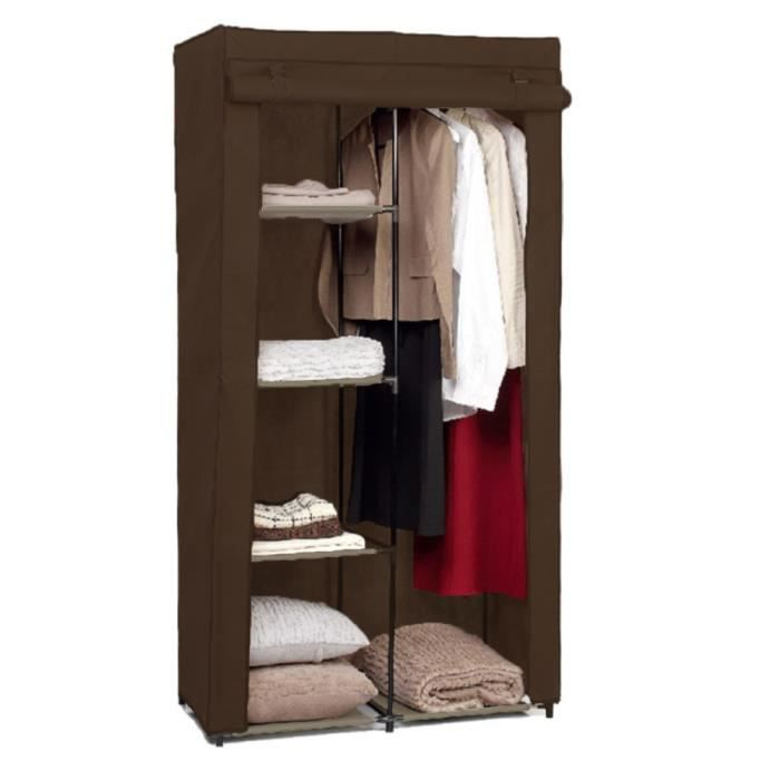 armoire modulable en non tiss taupe achat vente. Black Bedroom Furniture Sets. Home Design Ideas