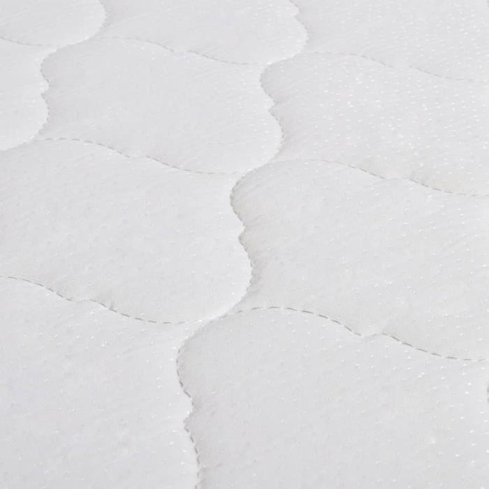 STRUCTURE DE LIT Lit avec matelas à mémoire de forme Noir Tissu 180