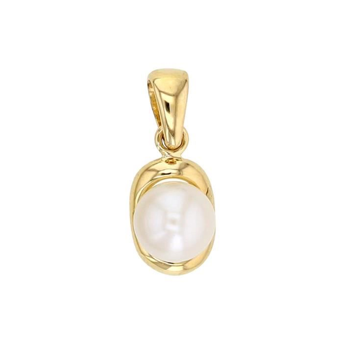 PENDENTIF VENDU SEUL Jouailla - Pendentif Or 375-1000 avec perle de cul