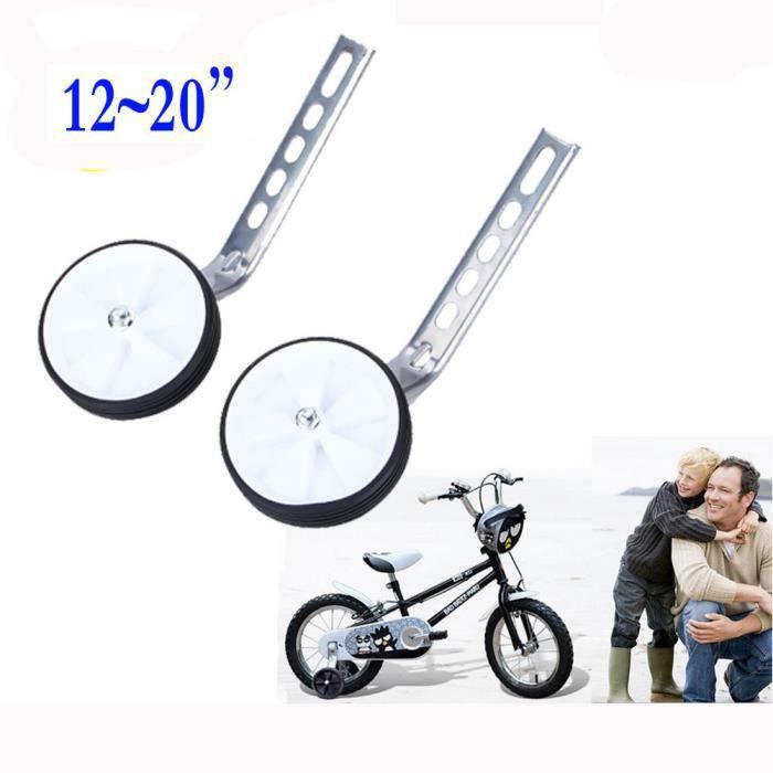 """12-20/"""" Pouces Stabiliseur Roues d/'entrainement pour Enfants Vélo Bicyclette"""