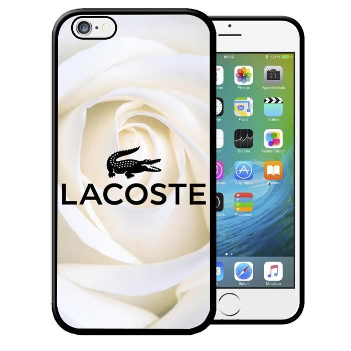coque iphone 5 5s lacoste roses blanches logo croc