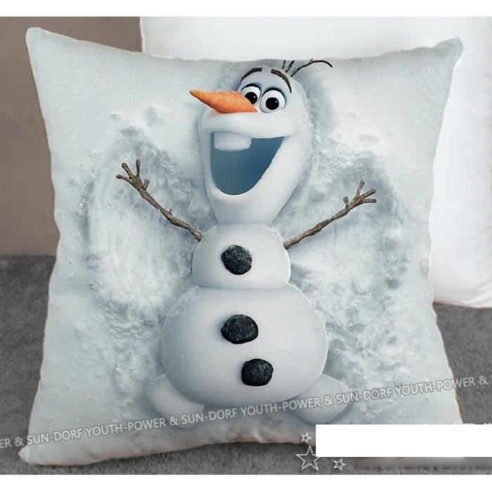 coussin oreiller reine des neiges frozen olaf achat. Black Bedroom Furniture Sets. Home Design Ideas