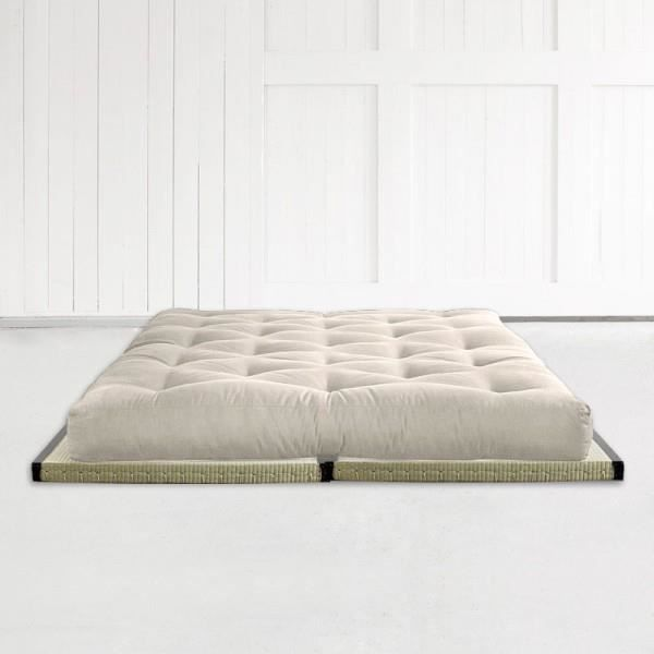 matelas futon polyconfort 140 2 tatamis achat vente. Black Bedroom Furniture Sets. Home Design Ideas