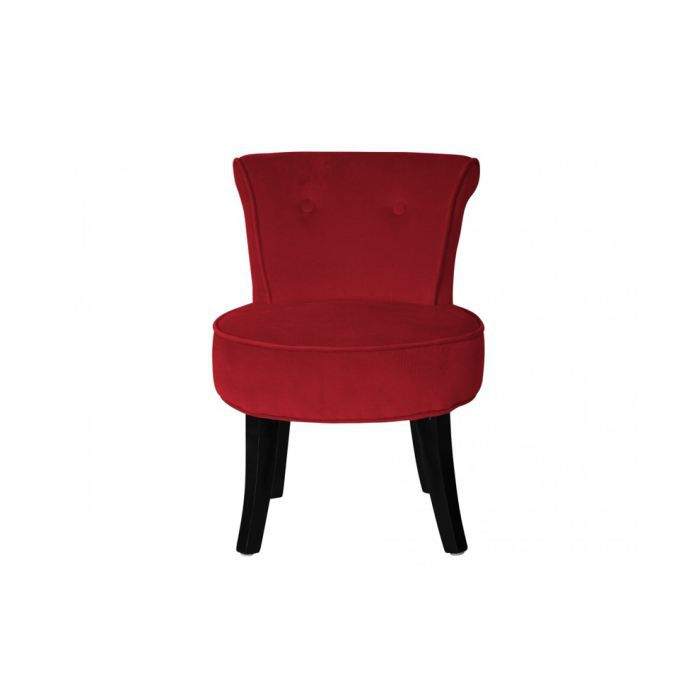 verdi fauteuil crapaud velours rouge achat vente fauteuil rouge cdiscount. Black Bedroom Furniture Sets. Home Design Ideas