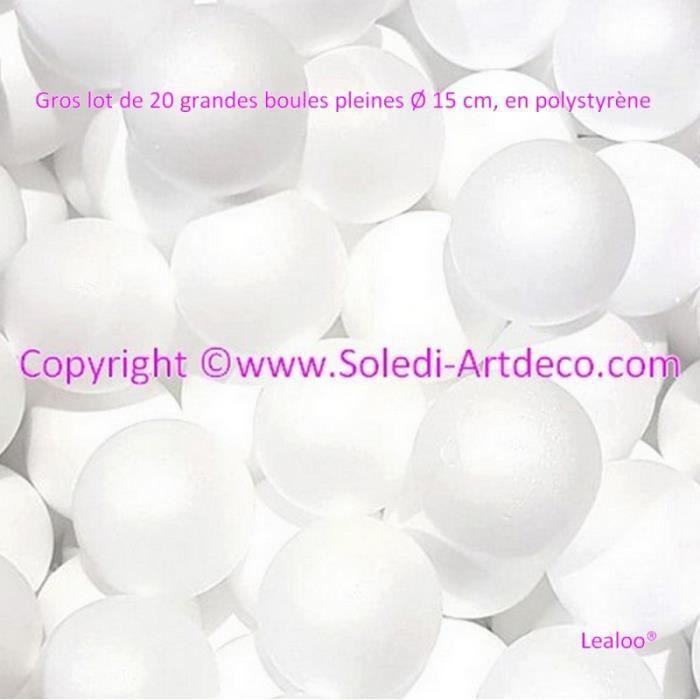 Lot de 20 boules de No/ël en plastique PVC 6 cm