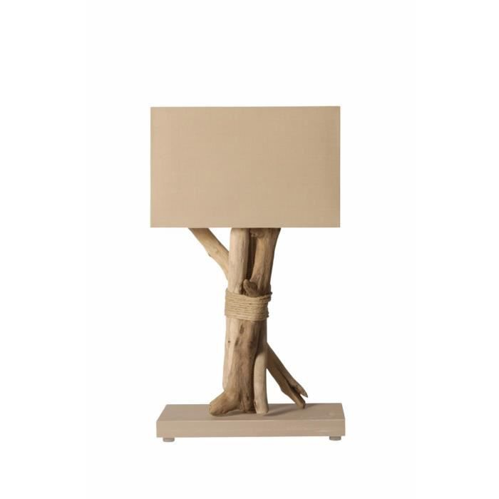 lampe a poser en bois flotte achat vente pas cher. Black Bedroom Furniture Sets. Home Design Ideas