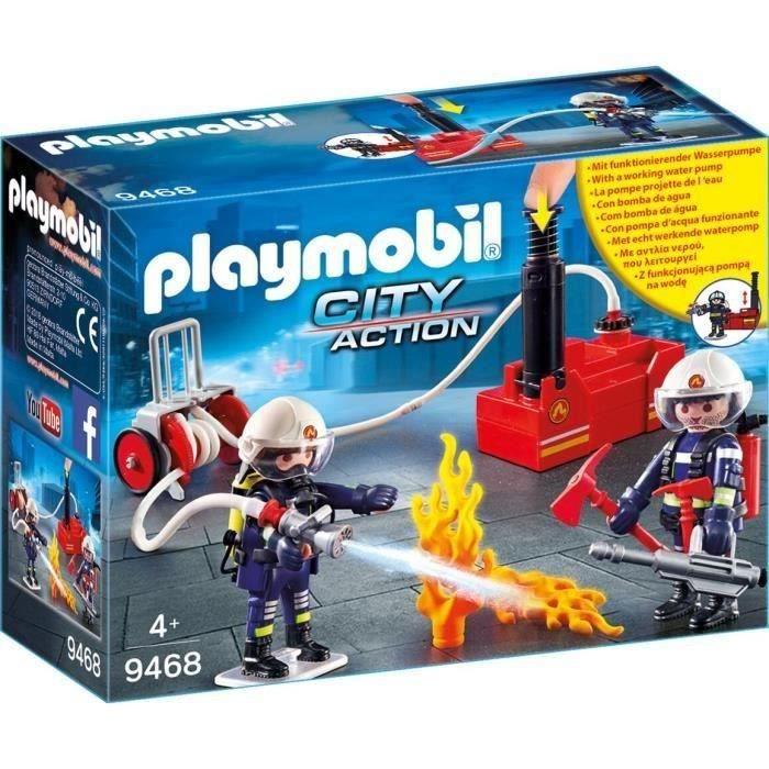 Photo de playmobil-pompiers-avec-materiel-dincendie-9468