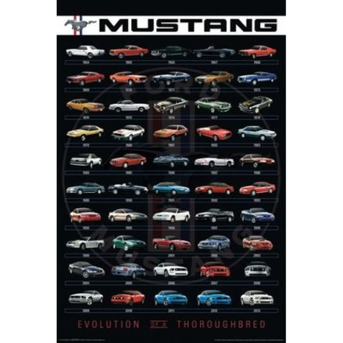 AFFICHE - POSTER Ford - Mustang Evolution Impression d'affiche (60,
