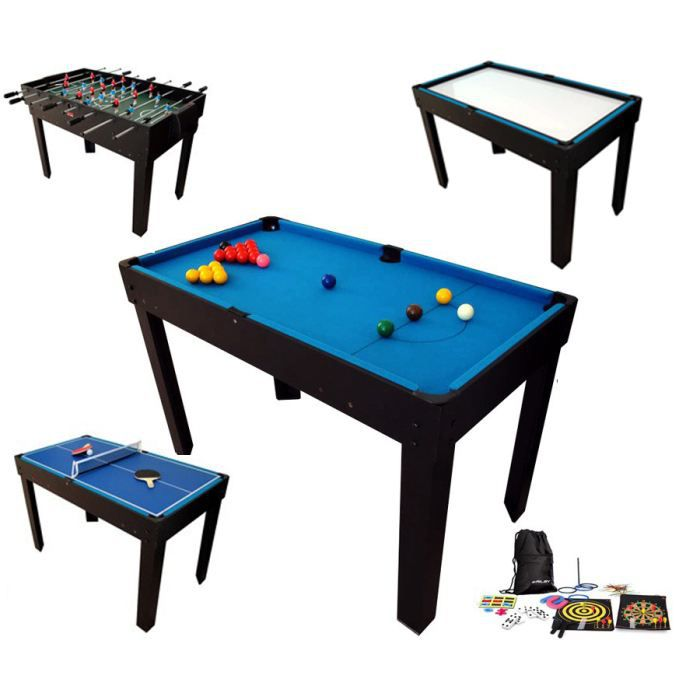Billard table multi jeux 21 en 1 noir achat vente table multi jeux cdis - Table multi jeux 5 en 1 ...