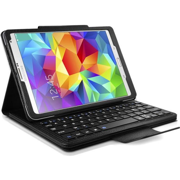 etui avec clavier azerty bluetooth pour tablette samsung. Black Bedroom Furniture Sets. Home Design Ideas