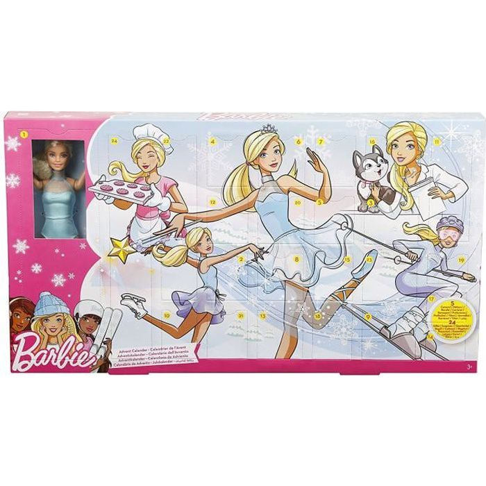 Calendrier Avent Barbie.Calendrier De L Avent Barbie Aille Unique Coloris Unique