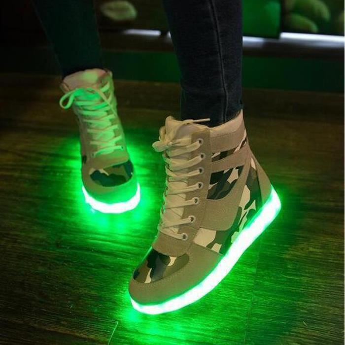 Sneakers Basket Ange Blanc Croix Homme 7 Usb Led Blancunisexe Lumineux Montantes Chargeable Gifts Couleurs Chaussures Femme B5fPFHq51