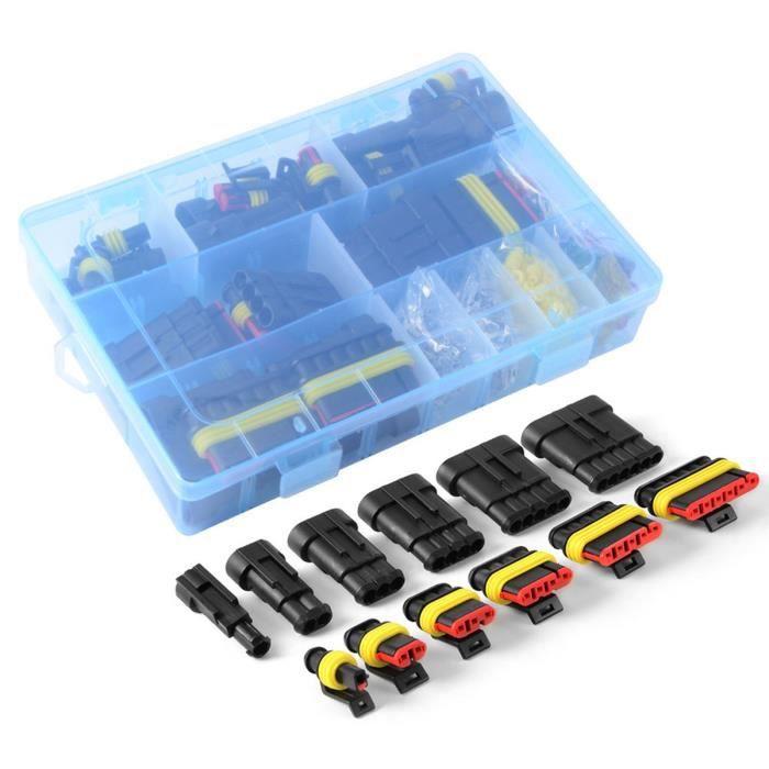 2 3 12 broches 22 /à 16 AWG 6 8 4 Aussel Lot de 6 connecteurs /électriques /étanches m/âles et femelles pour voiture