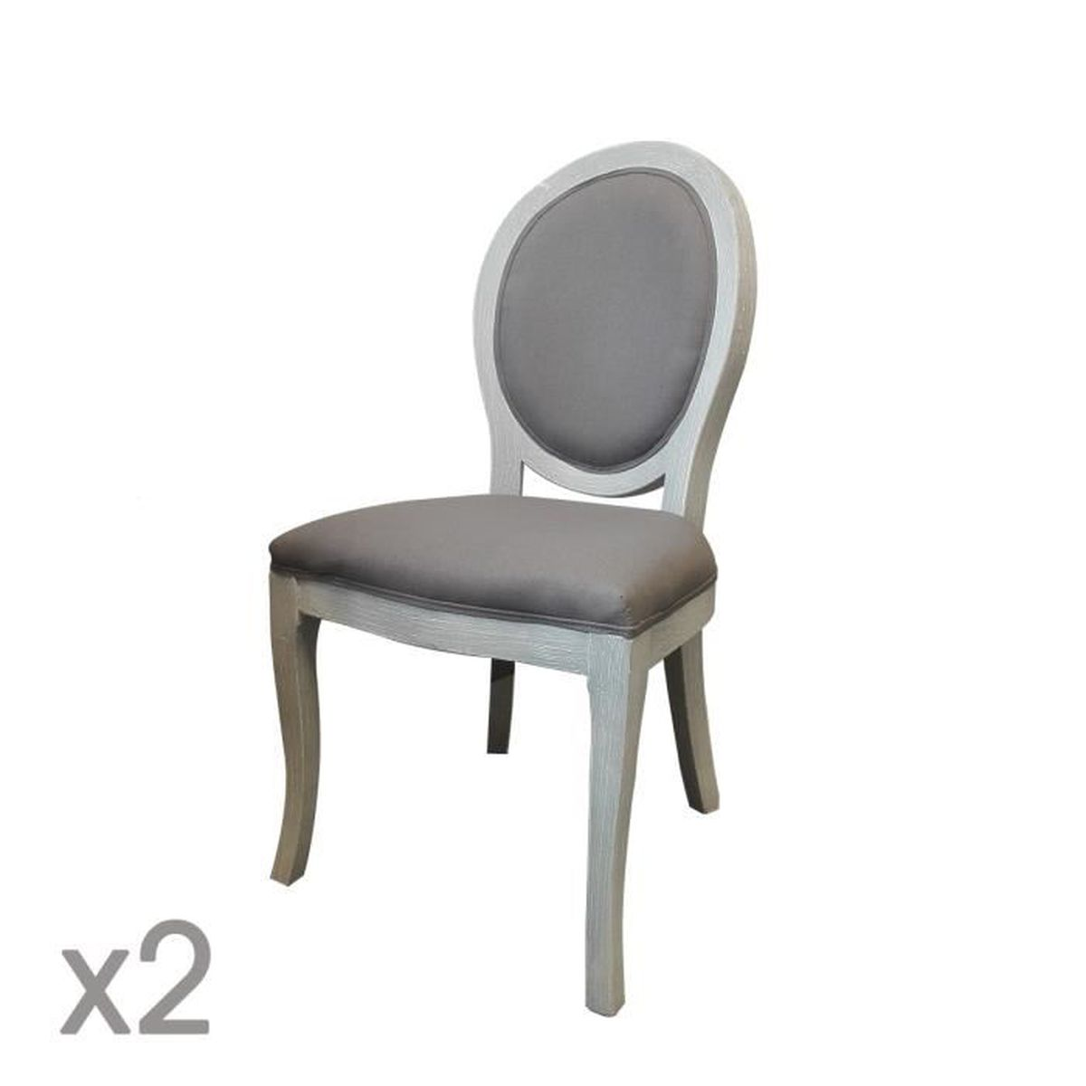 2 chaises m daillon cl on taupe autres sable achat vente chaise gris soldes d s le 10. Black Bedroom Furniture Sets. Home Design Ideas