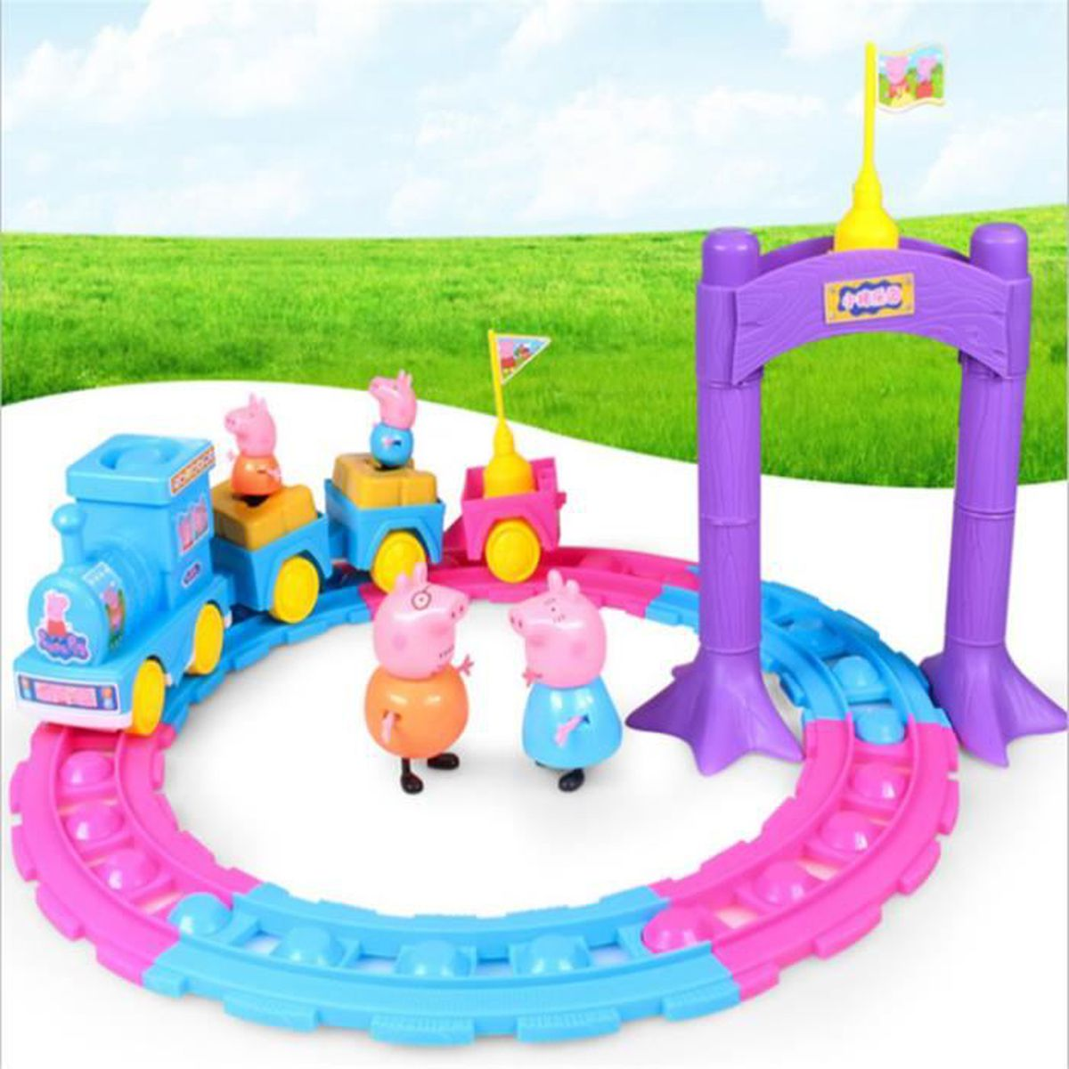 peppa pig locomotives de chemin de fer achat vente maison m nage cdiscount. Black Bedroom Furniture Sets. Home Design Ideas