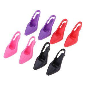 6 Paires 1:12 Miniature Jouet Mini Haut Talon Chaussures Maison De Poupée