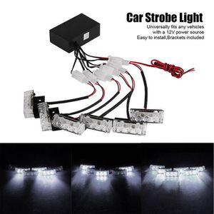 ALLUMAGE AUTO DES FEUX 6 barres 3-LED Blanc White feux d'avertissement st
