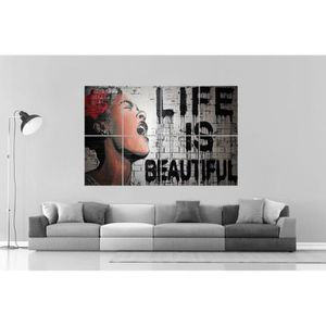 AFFICHE - POSTER BANKSY LIFE IS BEAUTIFUL GRAFFITI Wall Art Poster