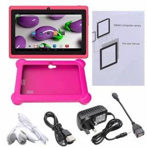 HOUSSE TABLETTE TACTILE Q88 tablette tactile cadeau pour enfant + rose hou