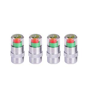 Tera lot de 4 bouchons de valve de pneu avec jauge pneu pression moniteur//d/étecteur//indicateur Pour V/élo Moto Voiture etc