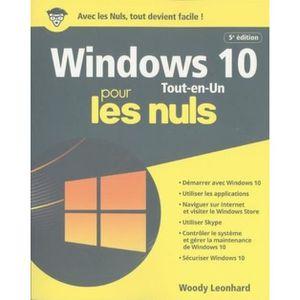 SYSTÈME D'EXPLOITATION Windows 10 tout en 1 pour les nuls