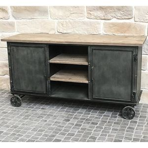 buffet industriel metal achat vente pas cher. Black Bedroom Furniture Sets. Home Design Ideas
