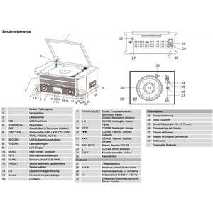 RADIO CD CASSETTE nostalgie système 50 DAB stéréo double NR avec pla