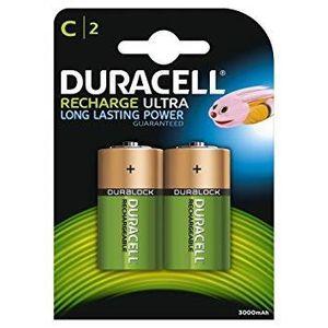 PILES Pack de 4 piles rechargeables LR14/HR14 Ni-Mh Dura